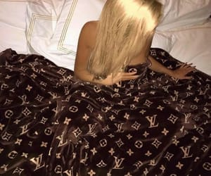 bed, luxury, and gurl image