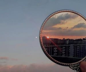 aesthetic, mirror, and sunset image