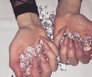 diamond, girl, and hand image