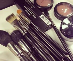 brush, lips, and makeup image