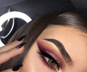makeup, eyeshadow, and eyebrows image