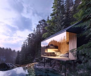 nature, norway, and surreal architecture image
