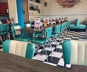 american, checkerboard, and diner image