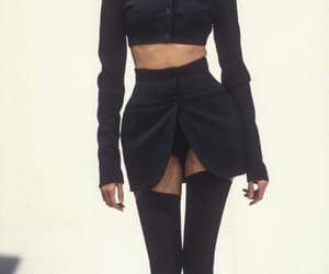 fashion, black, and runway image