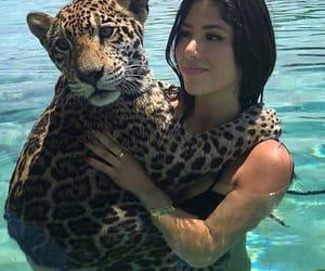 animal, girl, and brunette image