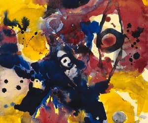 ernst wilhelm nay, german abstract painter, and abstract art image