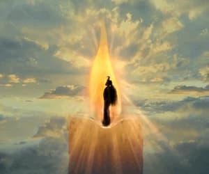 gif, woman, and god image