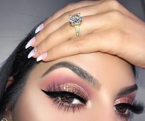 beauty, eyebrows, and eyelashes image
