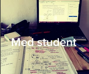 med, studying, and medicina image