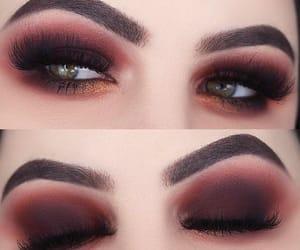 make up, grey eyes, and lashes image