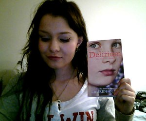 book, delirium, and eyeliner image