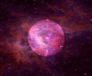 moon, gif, and stars image