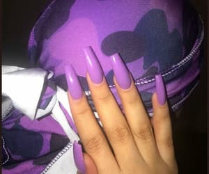 nails, purple, and couple image