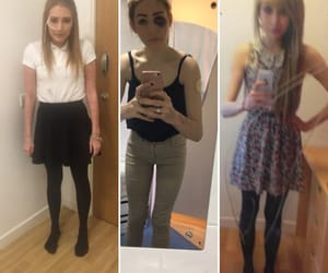 afraid, worthless, and anorexia image