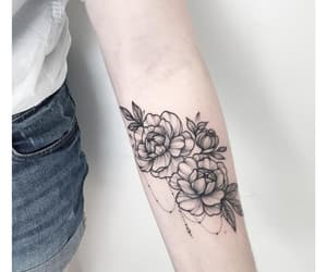 rose, tattoo, and white image
