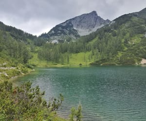 austria, lake, and mountains image