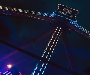 coaster, lights, and neon image