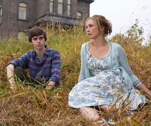 bates motel, freddie highmore, and vera farmiga image
