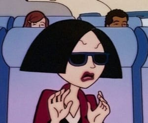 Daria, grunge, and cartoon image