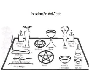 altar, candels, and cauldron image
