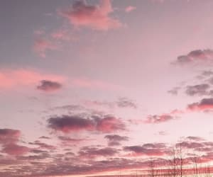 pink, pink sky, and sky image