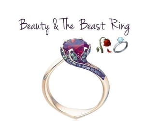 ring, beauty, and beauty and the beast image