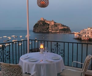 travel, view, and dinner image