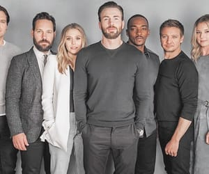 chris evans, captain america, and elizabeth olsen image