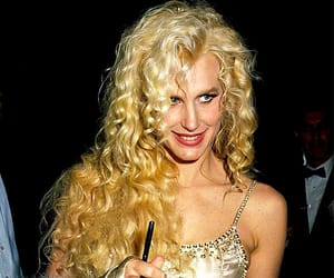 Daryl Hannah, gold, and sparkle image