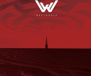 church, red, and westworld image