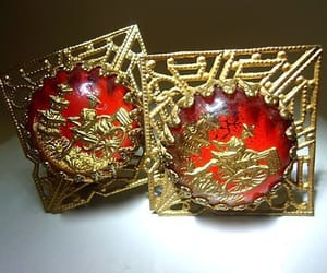 filigree, gold, and intaglio image