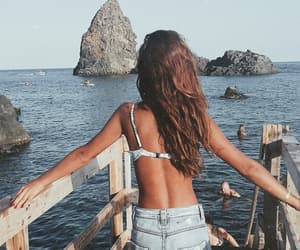 girl, sea, and summer image