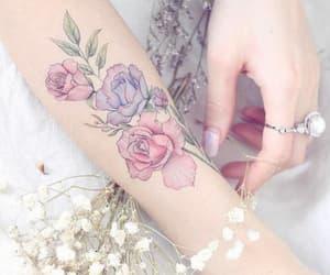 pink, purple, and tattoo image
