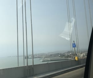 aesthetic, bay bridge, and gloomy image
