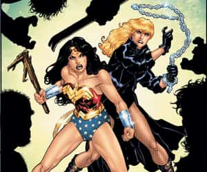 Black Canary, dc comics, and wonder woman image