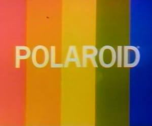 polaroid, rainbow, and vintage image