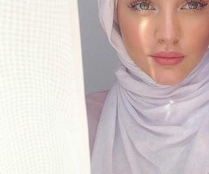 hijab, girl, and beauty image
