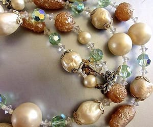 cream, baroque pearls, and double strand image