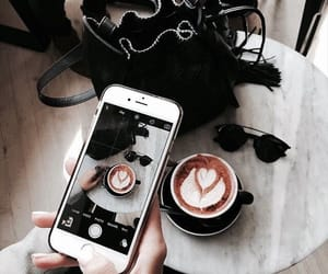 coffee, photography, and phone image