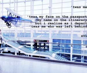 airport, girl, and love quotes image
