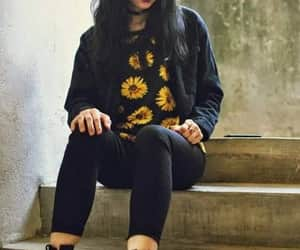 ankleboots, black, and girls image