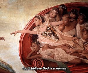 ariana grande, god is a woman, and art image
