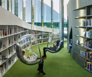 architecture, book love, and library image