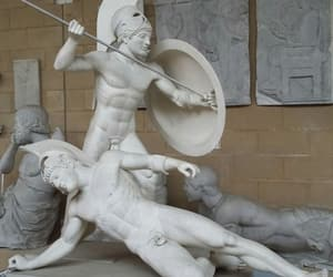 fight, statue, and roman image