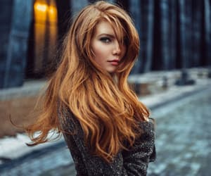 girl, redhead girl, and long hair image