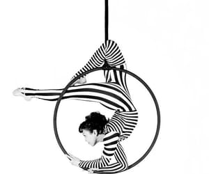 acrobat, black and white, and contortion image