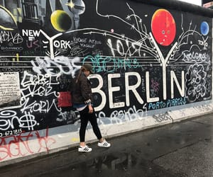 wwii, art, and berlin wall image