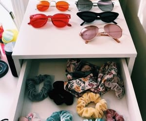 sunglasses, scrunchies, and accessories image