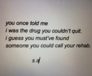 drugs, love, and quote image