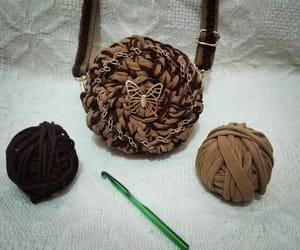 crochet, bag, and marron image